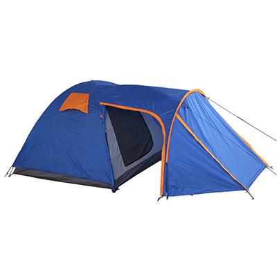122-055 ЧИНГИСХАН Палатка туристическая 4-мест., двухсл, PU2000, 215х215см+190х215см, выс.170см, с тамбуром
