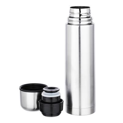 """841-801 Термос 0,50л """"Буллет"""" для напитков, серебристый, нержавеющая сталь (без лого)"""