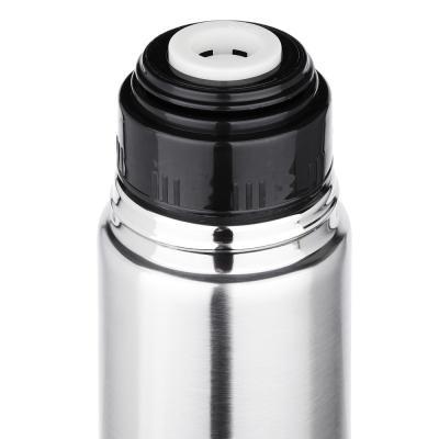 """841-802 Термос 1,00л """"Буллет"""" для напитков, серебристый, нержавеющая сталь (без лого)"""