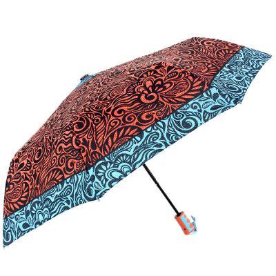 302-292 Зонт женский, полуавтомат, сплав, пластик, полиэстер, длина 55см, 8 спиц, 4 цвета,3636А