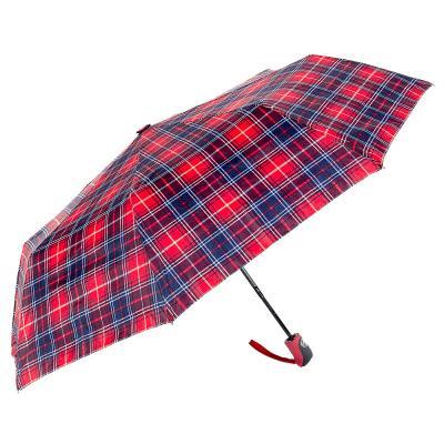 302-297 Зонт универсальный, полуавтомат, сплав, пластик, полиэстер, длина 55см, 8 спиц, 6 дизайнов,3425