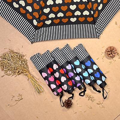 302-300 Зонт женский, механика, сплав, пластик, полиэстер, длина 55см, 8 спиц, 6 дизайнов, 825