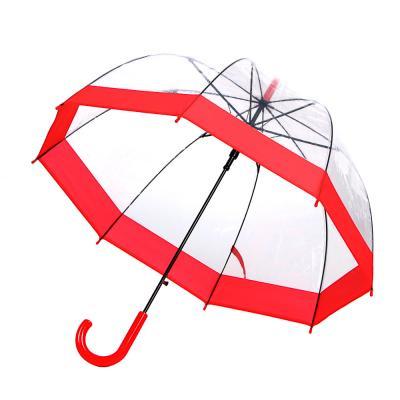 302-303 Зонт-трость женский, сплав, пластик, ПВХ, длина 60см, 8 спиц, 4 дизайна,602A