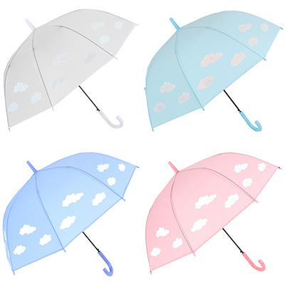 302-306 Зонт-трость женский с проявляющимся рисунком, пластик, сплав, ПВХ, длина 60см, 8 спиц, 4 цвета,606