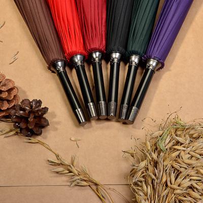 302-308 Зонт-трость женский, сплав, пластик, полиэстер, 65см, 16 спиц, 6 цветов