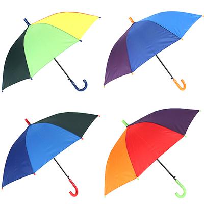 302-311 Зонт-трость детский, сплав, пластик, полиэстер, длина 50см, 8 спиц, 4 цвета, 0045
