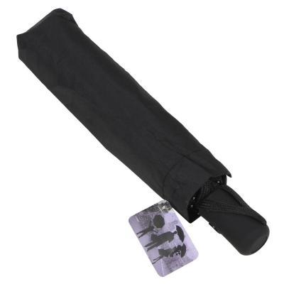 302-316 Зонт мужской, полуавтомат, сплав, пластик, полиэстер, длина 55см, 8спиц, черный,10598-10
