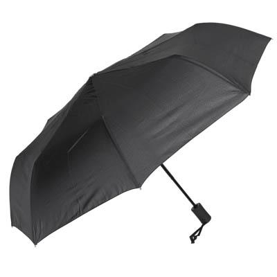 302-316 Зонт мужской, полуавтомат, сплав, пластик, полиэстер, длина 55см, 8спиц, черный,3319В