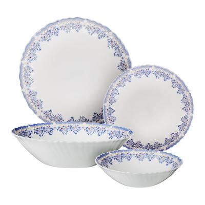 """818-011 Набор столовой посуды 19 предметов, опаловое стекло, MILLIMI """"Аполлон 2"""""""