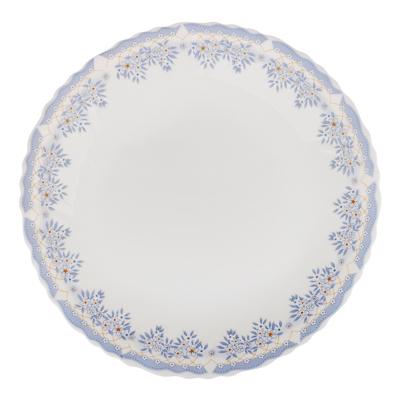 """818-323 Тарелка десертная d.19 см, опаловое стекло, MILLIMI """"Аполлон 2"""""""