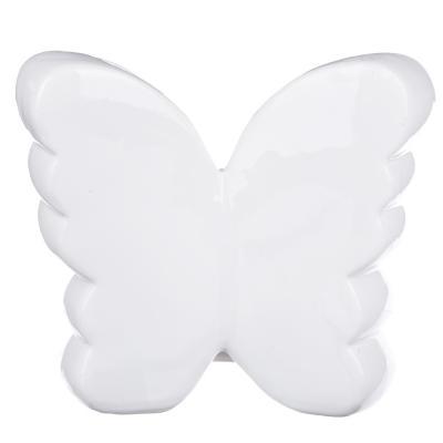 511-184 Копилка в виде бабочки с пайетками, керамическая, 15,5х7х14см