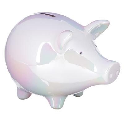 511-189 Копилка в виде свинки, керамическая, 18,3х12х12,6см, 2 цвета