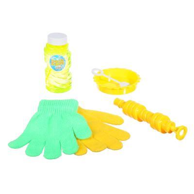 460-007 Мыльные пузыри эластичные с перчатками, 6 предм., мыльный р-р 118мл, пласт., ПЭ, 19х28х5см