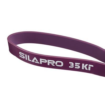 093-004 SILAPRO Силовая эластичная лента для фитнеса 208х0,45х3,2см, латекс, 35 кг