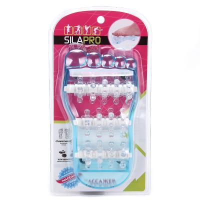 192-035 SILAPRO Массажер для ступней, 20х10см, пластик, 2 цвета
