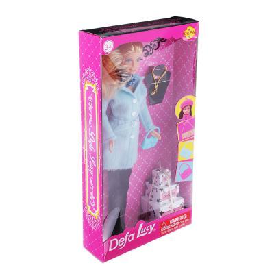 267-785 Кукла в теплой одежде, 29см, пластик, полиэстер, 4 дизайна