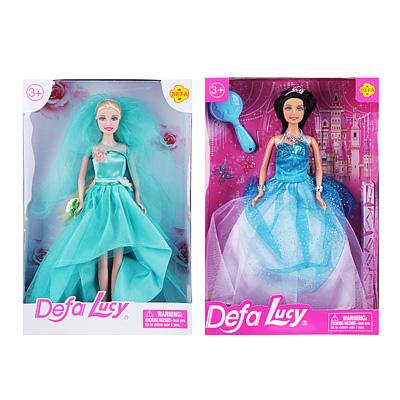 267-788 Кукла в праздничном платье, 29см, пластик, полиэстер, 2 дизайна