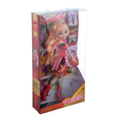 267-798 Кукла шарнирная в бальном платье, 29см, пластик, полиэстер, 4 дизайна
