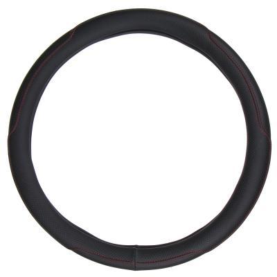 708-109 NEW GALAXY Оплетка руля, экокожа, черный, размер М