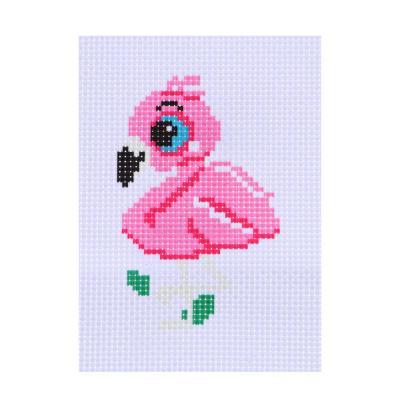 366-207 Набор для вышивания 14х10см (канва, нитки мулине, пластиковая игла), 6-12 дизайнов