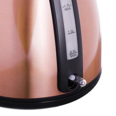 291-072 Чайник электрический 1,7 л LEBEN, 2200 Вт, нержавеющая сталь, бронза