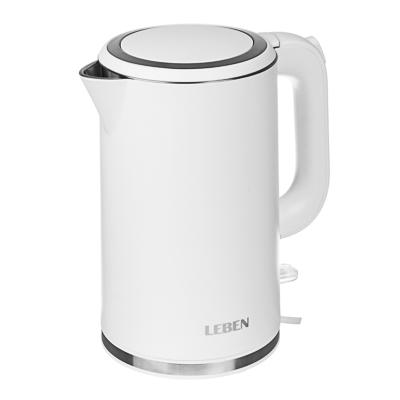 Чайник электрический 1,8л, 2200Вт, скрытый нагр.элемент, двойное покрытие , 2 цвета