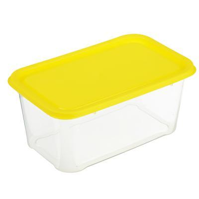 861-248 Контейнер для продуктов прямоугольный 1,2л, пластик, 3 цвета, арт.Р2049