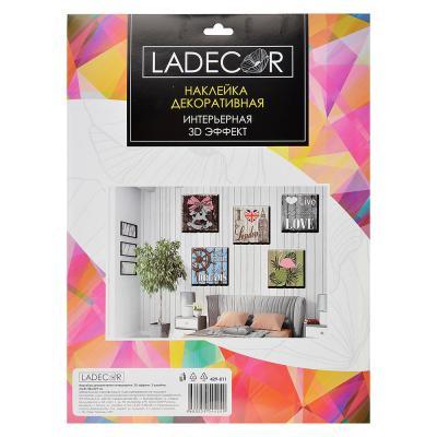 429-011 LADECOR Наклейка декоративная интерьерная, 3D эффект, 2 дизайна, 31х41/28,5х29 см