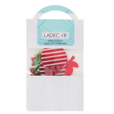 503-533 LADECOR Наклейка декоративная, объемная, 18х10,5 см, ПВХ, 6 дизайнов