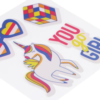 503-536 LADECOR Наклейка декоратив.д/текстиля,бумаги ,тверд.поверхностей, световой эфф.,15х11см,ПВХ,10 видов