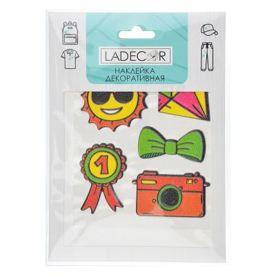 503-537 LADECOR Наклейка декоративная для текстиля, бумаги и тверд.поверхностей, 12х17 см,ПВХ,10видов
