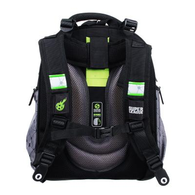254-169 Рюкзак школьный Суперлига 38x30x20 см, 2 отделения, эргономичная спинка, лямки регулируемые