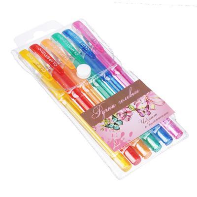 614-022 Набор гелевых ручек Волшебный полет с блестками 0,7мм, 6 цветов