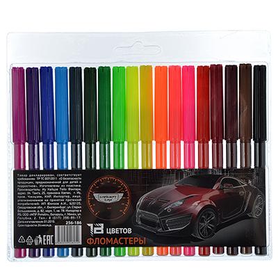 256-186 Фломастеры Концепт кар с цветным вентилируемым колпачком, 18 цветов