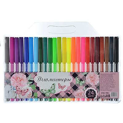 256-192 Фломастеры Волшебные цветы с цветным вентилируемым колпачком, 24 цвета