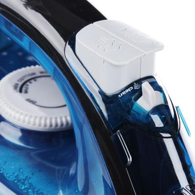 249-022 Утюг LEBEN 1600 Вт, подошва керамика, синий, вертикальное отпаривание