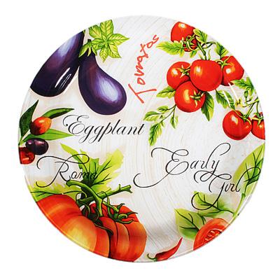 830-540 Урожай Блюдо круглое, стекло, 37см