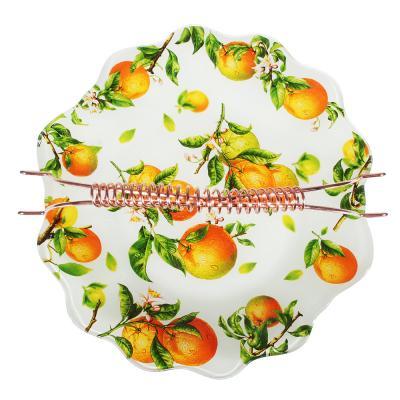 830-542 Апельсины Ваза для фруктов, стекло, 25х26см