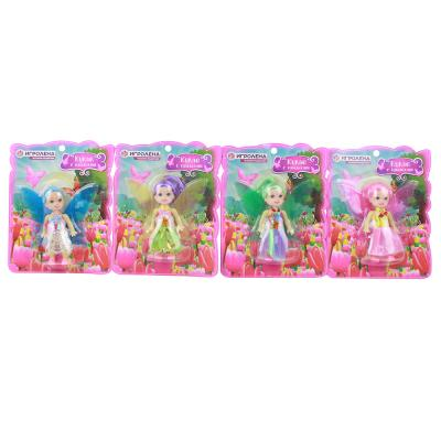 267-801 ИГРОЛЕНД Кукла с крыльями, пластик, полиэстер, 18,5х14,5х4см, 4 цвета