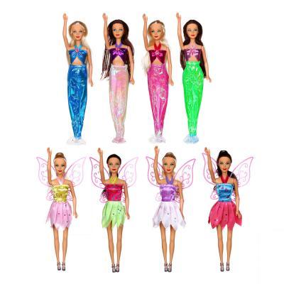 267-804 ИГРОЛЕНД Кукла с хвостом русалки, с аксессуарами,свет,3хAG3, 25x40х6см, 3 дизайна