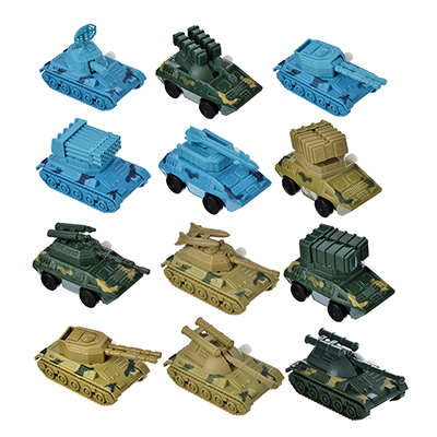292-164 Игрушка заводная Военная техника, пластик,12х4х3см, 12 дизайнов