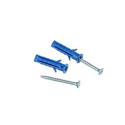 Саморез ШУц 3,0х30 потайной головкой + дюбель 5х25, сталь, полипропилен, 25 шт, 665190