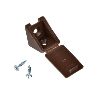 665-192 ЕРМАК Мебельный уголок с шурупом, цвет дуб, сталь, 4 шт