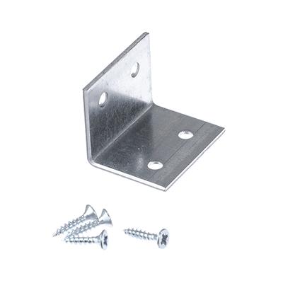 Уголок мебельный оцинкованный, 30х30х40х2,0(3,0)мм, с шурупом, 1 шт, 665197