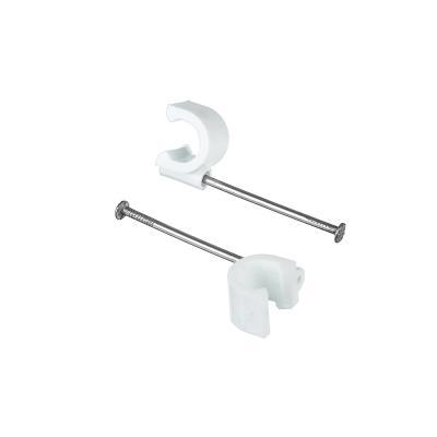 665-202 ЕРМАК Скоба для кабеля круглая А10мм, металл, пластик, 25 шт, 665202