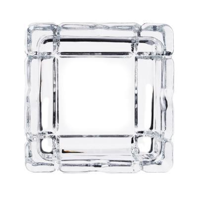 516-323 Пепельница стеклянная, квадратная, 10,5х10,5х3 см, вид 1