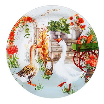 830-555 Фазенда Блюдо круглое, стекло, 37см
