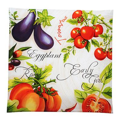 830-558 Урожай Блюдо квадратное, стекло, 30см