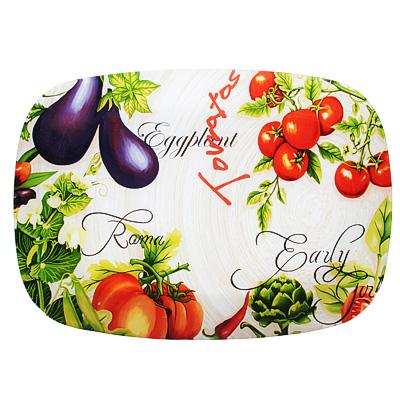 830-559 Урожай Блюдо прямоугольное, стекло, 35х25см