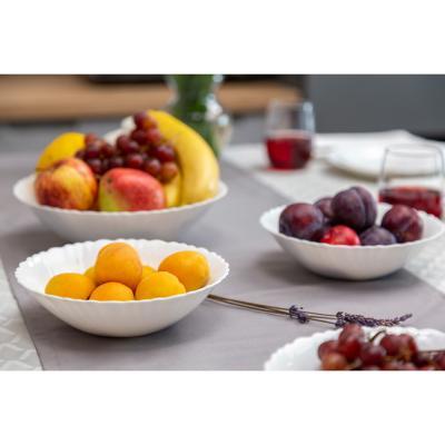 """818-383 Набор столовой посуды 19 предметов, опаловое стекло, MILLIMI """"Бьянко"""""""